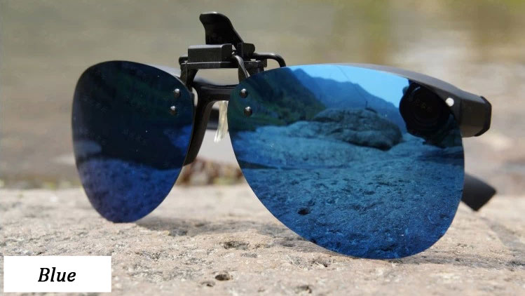 Toad polarized sunglasses clip Blue