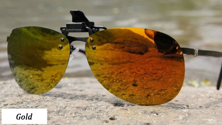 Toad polarized sunglasses clip Gold
