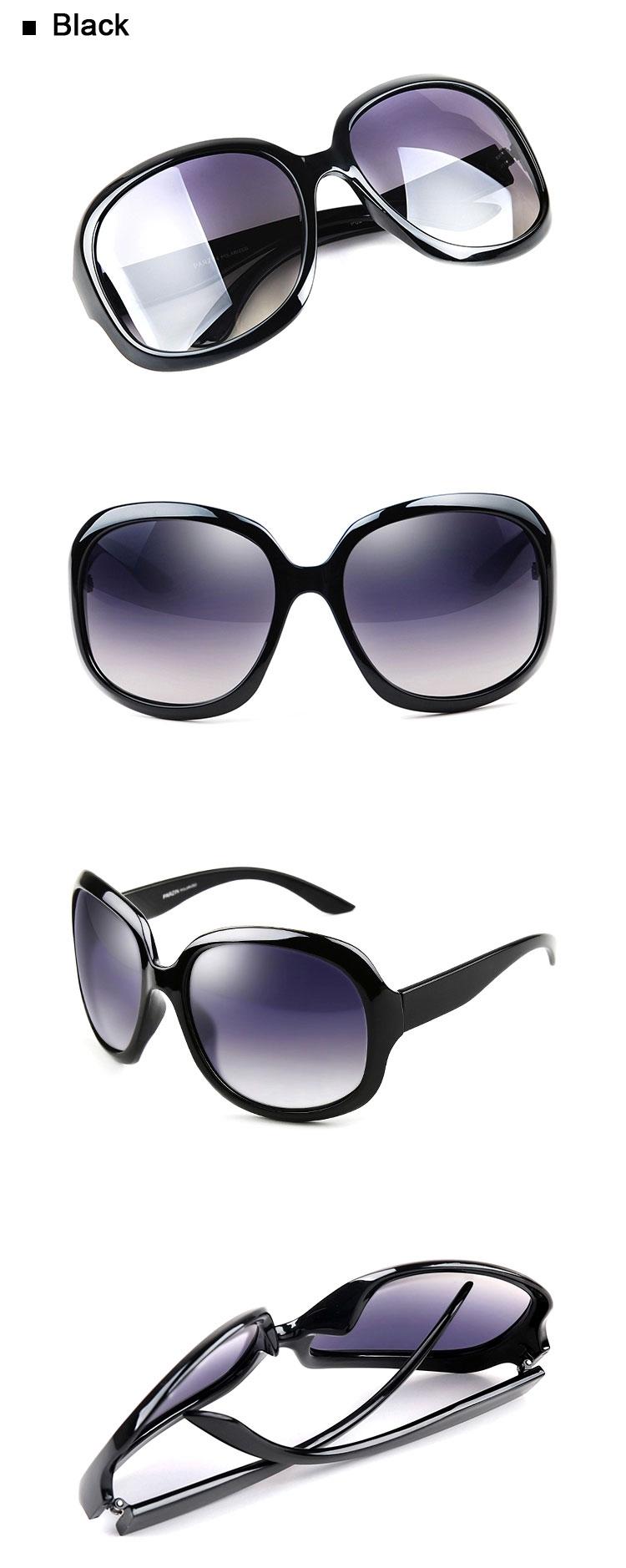 Black Retro Oversized Sunglasses