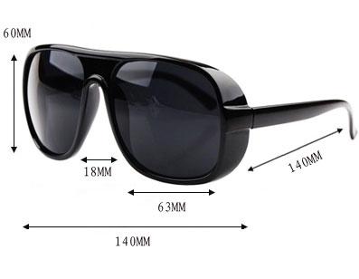 Fashion-Black-Brown-Leopard-Eyewear-Toad-Sunglasses-size