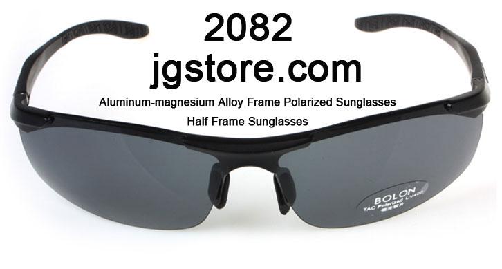 Half Frame Sunglasses Aluminum magnesium Alloy Frame Polarized Sunglasses 2082 3