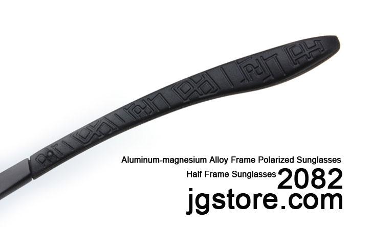 Half Frame Sunglasses Aluminum magnesium Alloy Frame Polarized Sunglasses 2082 4