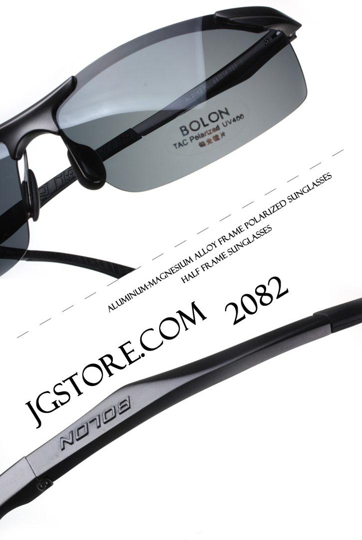 Half Frame Sunglasses Aluminum magnesium Alloy Frame Polarized Sunglasses 2082 5