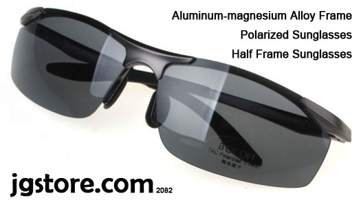 Half Frame Sunglasses Aluminum magnesium Alloy Frame Polarized Sunglasses 2082 6