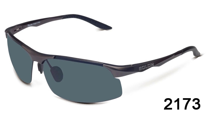 Half Frame Sunglasses Aluminum magnesium Alloy Frame Polarized Sunglasses 2173