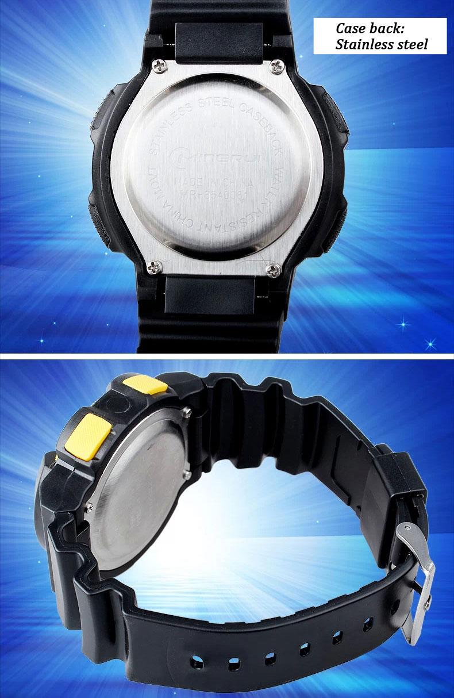 NEW Multifunction Sports Kids gifts Waterproof Electronic Watch back
