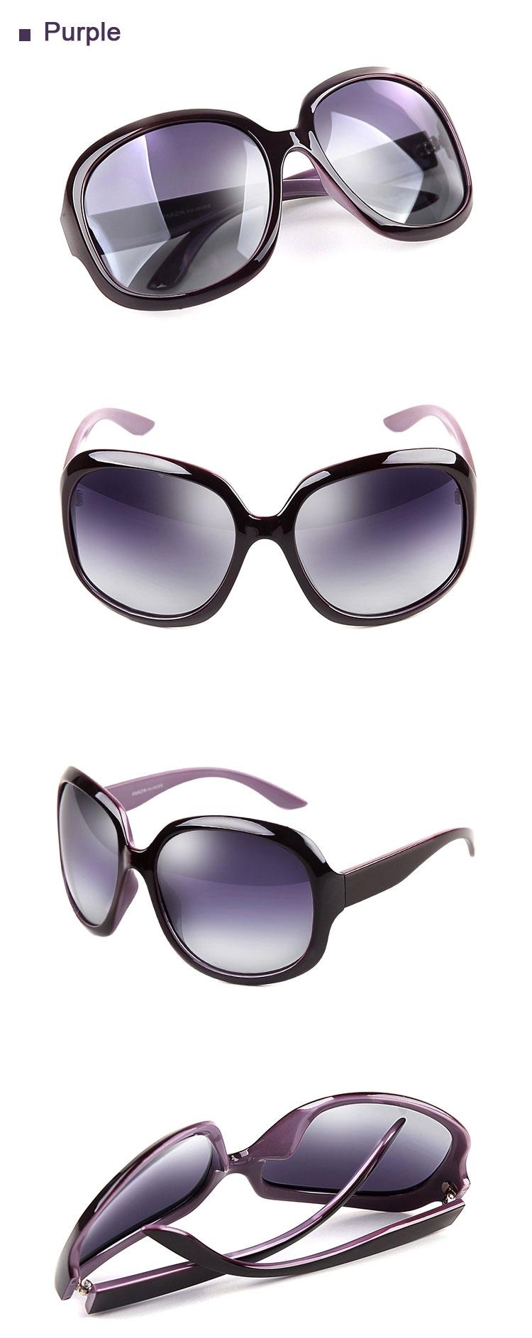 Purple Retro Oversized Sunglasses