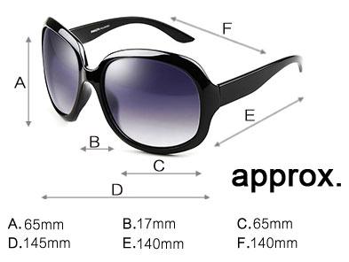 Purple Wine White Brown Black Retro Oversized Sunglasses size