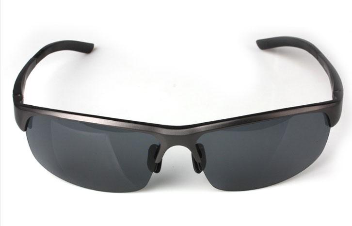 Semi Rimless Sunglasses Aluminum magnesium alloy frame polarized sunglasses