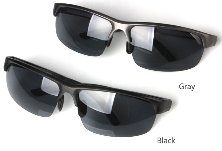 Semi Rimless Sunglasses Aluminum magnesium alloy frame polarized sunglasses