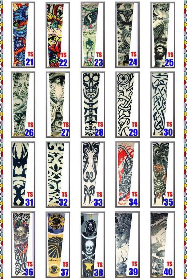 Temporary Fake Slip On Tattoo Arm Sleeves Kit Motorcycle Tattoo arm Sleeves 2
