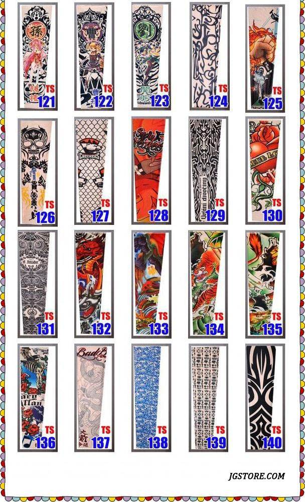 Temporary Fake Slip On Tattoo Arm Sleeves Kit Motorcycle Tattoo arm Sleeves 7