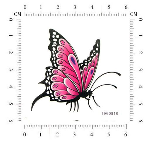 ladies butterfly temporary tattoos size