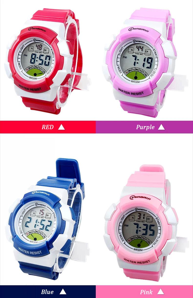 new multifunction sports kids gifts waterproof electronic watch small 2