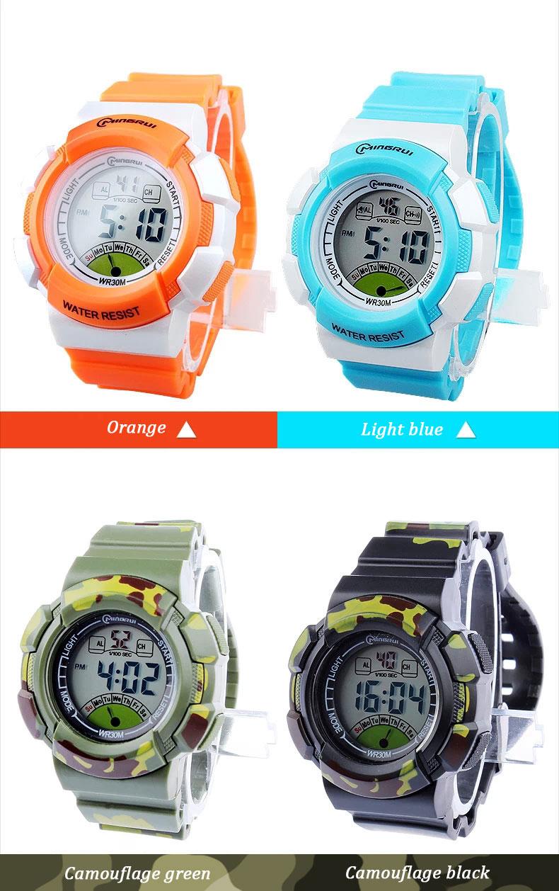 new multifunction sports kids gifts waterproof electronic watch small