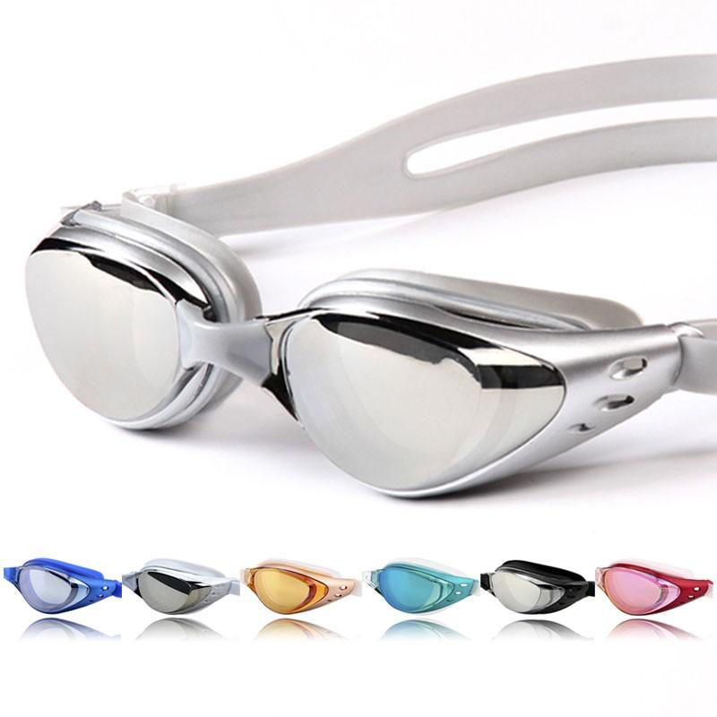 Non-Fogging Anti UV Adjustable Swimming Swim Goggle Glasses