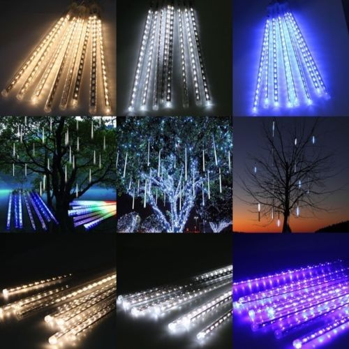 LED Meteor Shower Lights Waterproof 8 Tubes String For Xmas Party