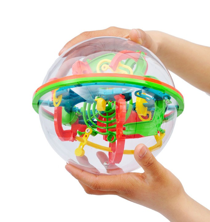 3D Space Traveller Intellect Ball Balance Maze Game Puzzle Toy 100 Barriers (Large)