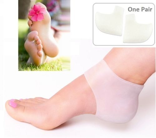 Gel Silicon Heel SPA Socks Relieve Calluses Dry & Cracked Skin Moisturizing Pain Relief