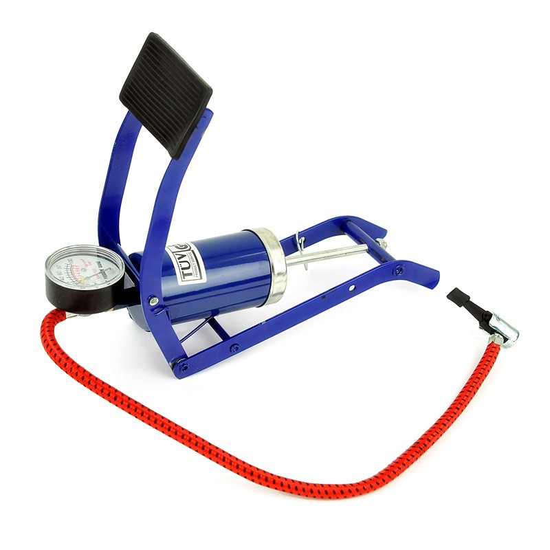 New Bicycle Bike Foot Operated Tire Pump Inflator
