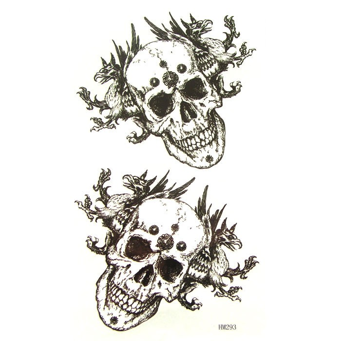 SKULLS TEMPORARY TATTOO BODY ART