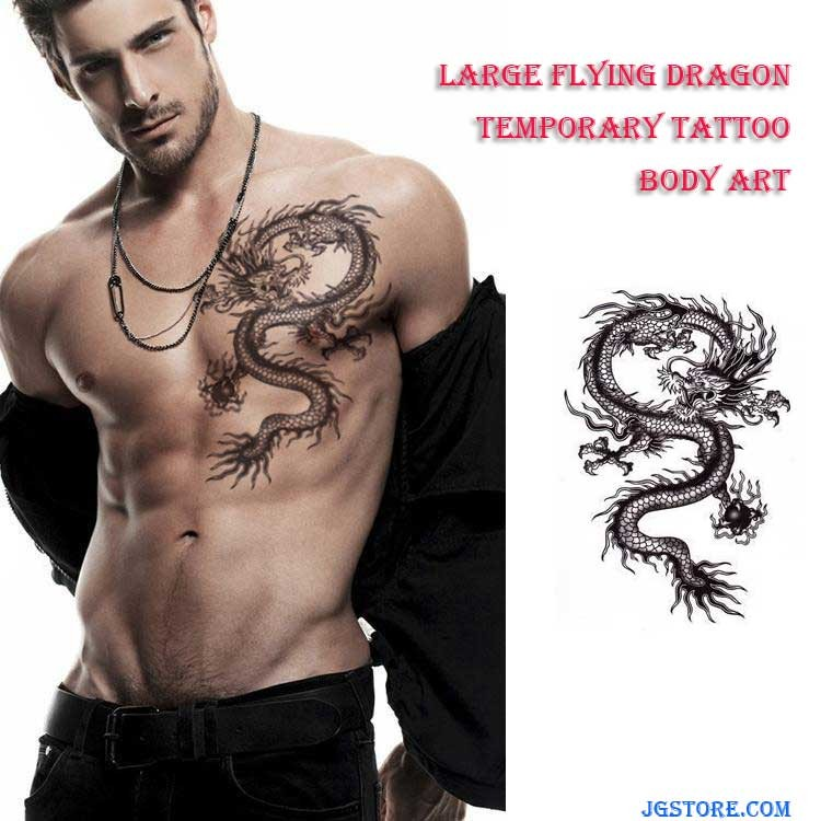 Large Flying Dragon Temporary Tattoo Removable Body Art Waterproof Stickers