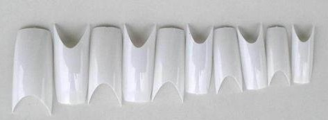 500pcs Clear Natural White Deep Smile Square Acrylic False Nail Tips